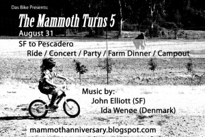 The Mammoth Turns 5 flyer